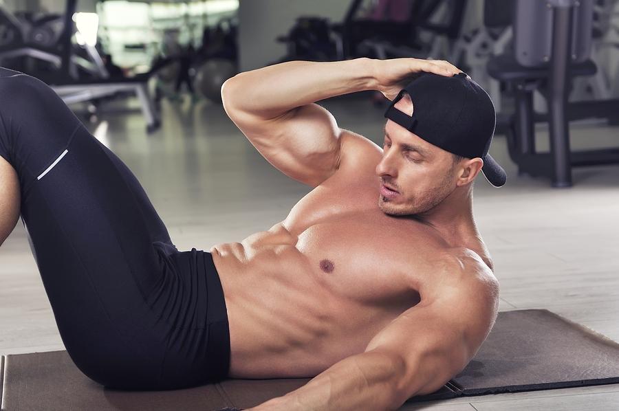 Seitliche Bauchmuskeln Crunches