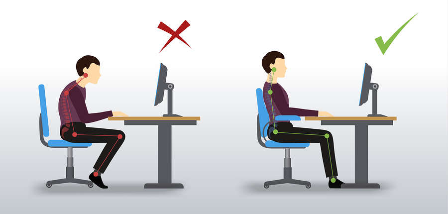 ergonomisch sitzen
